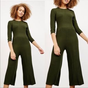 Ribbed Crop Jumpsuit NWT